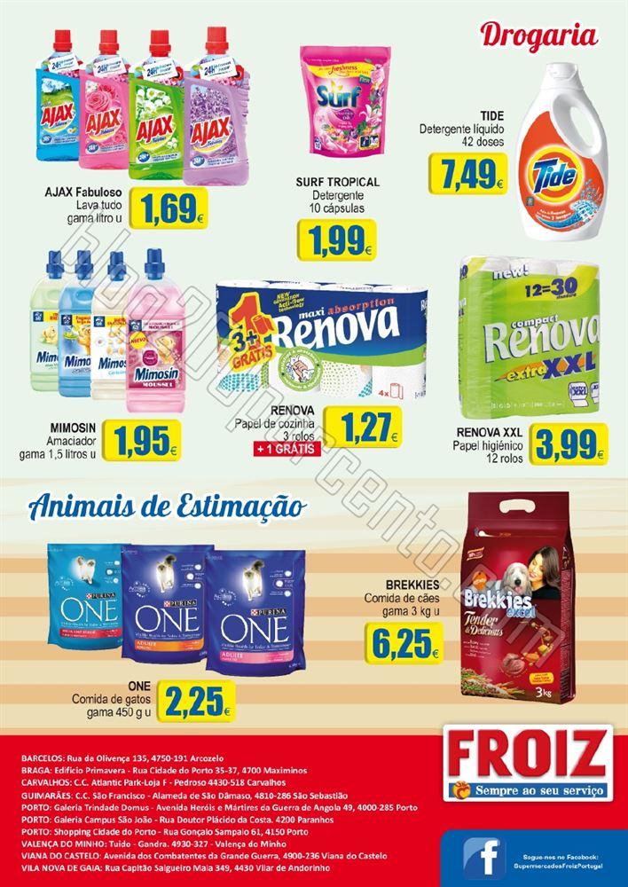 Novo folheto FROIZ promoções até 15 dezembro p8