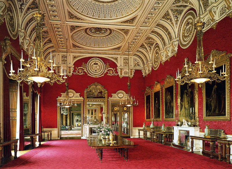 Buckingham Palace - The State Dining Room em 1843.